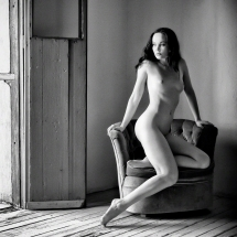 Anne Duffy Sitting on Chair at Casa Dracula © 2011 Billy Sheahan